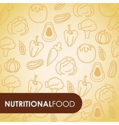 Nutritional food vector
