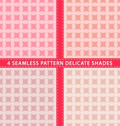 Set of seamless pattern delicate shades vector