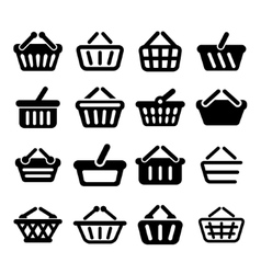 E-shop basket collection vector