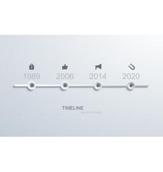 Modern timeline infographic vector