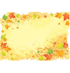 Autumn stationarynd leaves vector