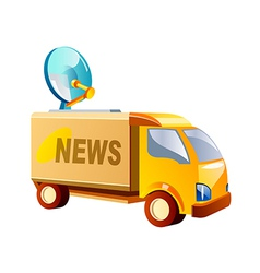 Icon news truck vector