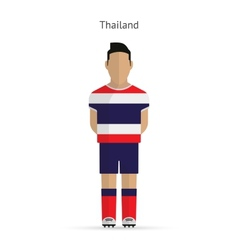 Thailand football player soccer uniform vector