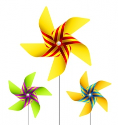 Pinwheel toy vector