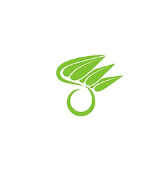 O letter organic green logo leaf eco icon concept vector
