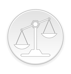 Scale button vector