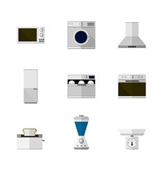 Flat icons for home equipment vector