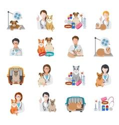 Veterinary icon flat vector