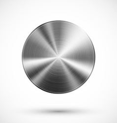 Circle button metal vector