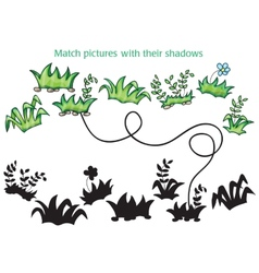 Grass and flowers cartoon - game for children vector