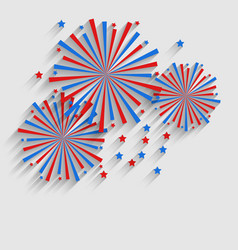Firework colorized in flag us for celebration vector