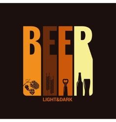 Beer label design background vector
