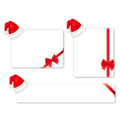 Set of christmas objects vector