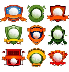 Color golf emblem vector