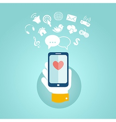 Flat design concept for mobile apps vector