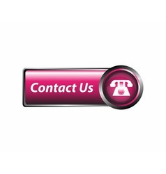Contact us icon button vector