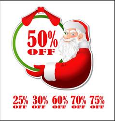 Discount sticker with santa claus vector