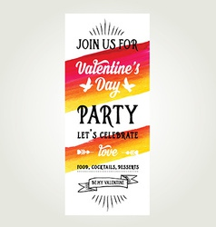 Invitation valentines day typography love poster vector