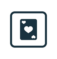 Poker icon rounded squares button vector