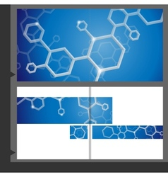 Molecule brochure design vector