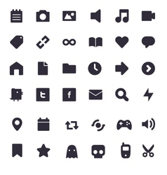 Set of multimedia icons vector