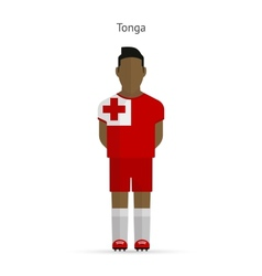 Tonga football player soccer uniform vector