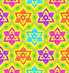 Seamless rangoli pattern vector
