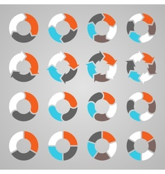 Circle arrows for infographic diagram graph vector
