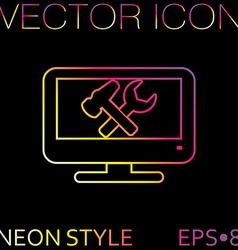 Monitor symbol settings icon computer settings vector
