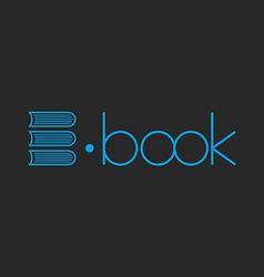 E-book logo abstract letter e of books mockup shop vector