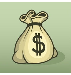 Money icon with bag color vector