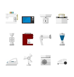 Flat icons for home vector