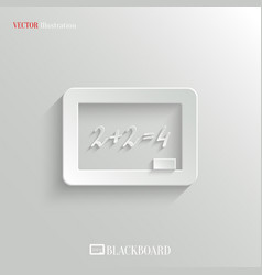 Blackboard icon - education background vector