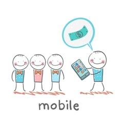 People buy mobile vector