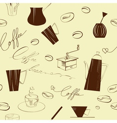 Seamless background with element of coffee ceremon vector