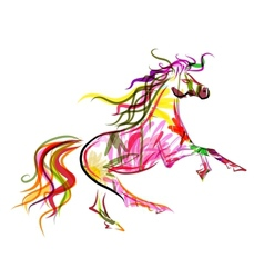 Horse sketch colorful for your design symbol of vector