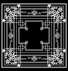 Black ornate frame quad vector