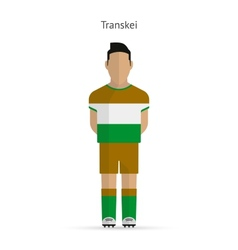 Transkei football player soccer uniform vector
