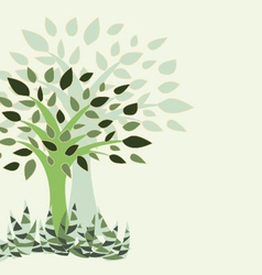 Tree and grass - vector
