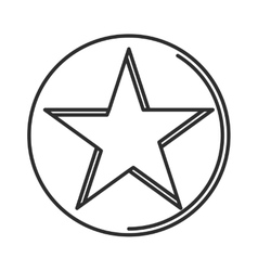 Star icon minimal linear contour outline style vector