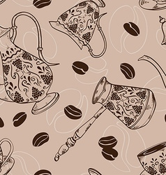Vintage coffee seamless pattern vector