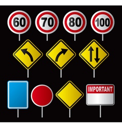 Traffic speed signs vector