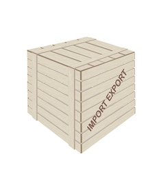 A wooden cargo box for freight transportation vector