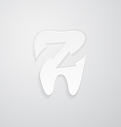 Icon protected around the tooth vector