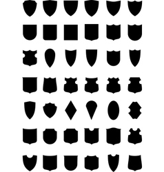 Heraldic shields silhouettes vector