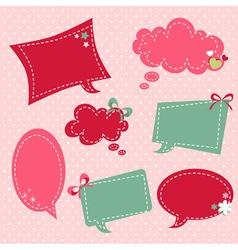 Retro romantic love stickers and tags vector