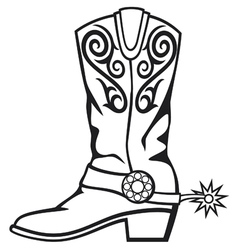 Cowboy boot vector