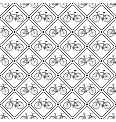 Seamless retro bicycle pattern vector