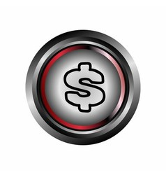 Dollar button vector