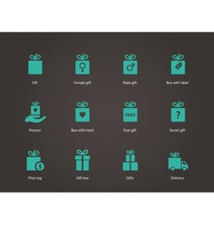 Present box icons vector